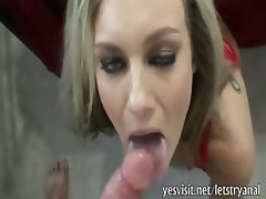 Kinky blonde girlfriend gives head and tries out painful anal sex