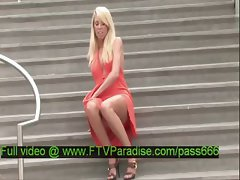 Brynn tender gorgeous blonde babe on the stairs