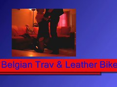 Belgian trav likes leather biker