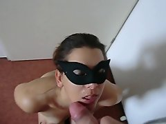 dutch better half gets a nice facial and swallows
