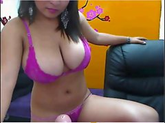 Nice Big titted Latina on Cam
