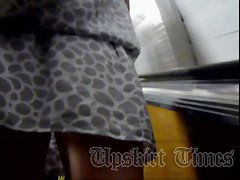 She&amp,#039,s pulled down her skirt for several times