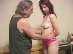 Amateur couple doing some titslapping