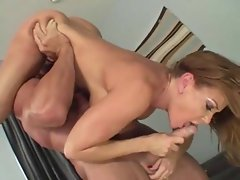 she massage, rim job and getting fucked