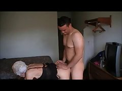 GRANNY MARG FUCKED AND FACIAL