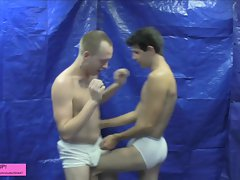 Wrestling Lesson Gone Weird ballbusting