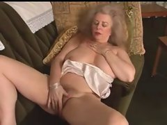 Hot Granny masturbating
