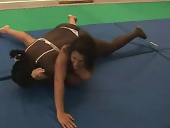 Sexy Female Wrestling - Black vs White