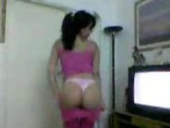 arabic girl stripping to how nice ass in underware