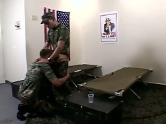 Big hot army boy suck on another soldier's cock