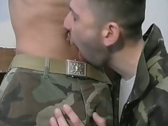 Hot military sex with some plugged and filled by raging rod !