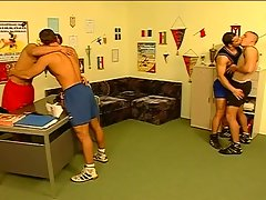 Horny wrestlers hungry for hard cock