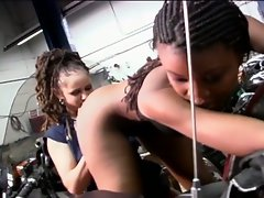Sweet clitz licking ebony lesbian babes fiery pussy playing fun