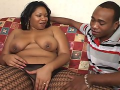 African chubby slut drilled by another african hard cock