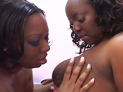 Bbw ebony plumpers are doing the lesbian thing
