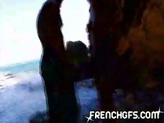 French slut gets fucked on the beach hardcore sex video