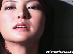 Sexy asian babe loves facial cum