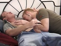 Young gay guys kissing, sucking and fucking