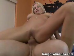 Gorgeous blonde milf loves a cock in her cunt