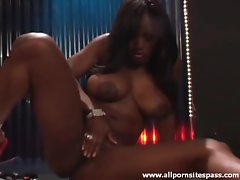 Black goddess in hot bikini is ready to arouse