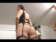 Beauty in lingerie has the finest big ass ever