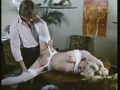 Sultry retro secretary fucked in video