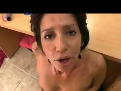 Milf POV blowjob and sex in the office
