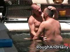 Gay sex by the pool with Chris Michaels part2