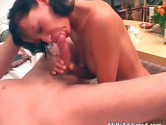 Alluring cougar with sensual hooters blows white part2