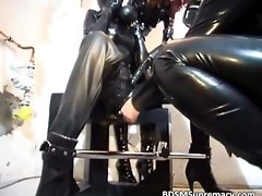 Cool BDSM crazy threesome action with three models part6