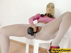 Lexi is ebony lewd lass that loves nylon