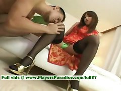 Ayane innocent asian babe find enjoyment in a rough core screwing