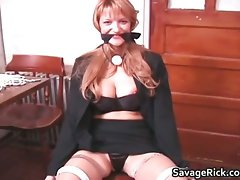 Tied Helpless Heidi intense s and m movie part5