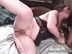 Sensual buxom aged cutie licks huge shaft part4