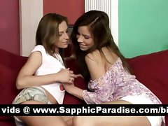 Great dark haired and blondie lezzies kissing and having lez love