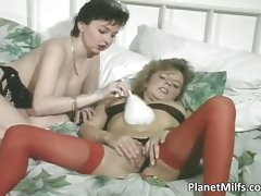 Two amazing mummy nymphos having steamy part6