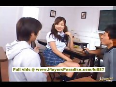 Miyu Hoshino asian schoolgirl find enjoyment in getting muff fingered