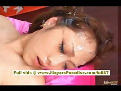 Miho Maeshima aot asian tart cumshots on her face