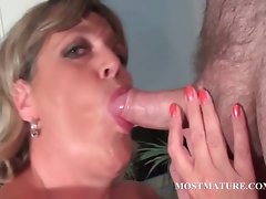 Attractive mature lewd momma loves to caresses dick