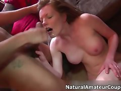 Filthy dark haired vixen gets jizzed part4