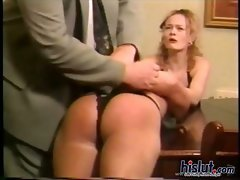 This slutty girl likes to be spanked