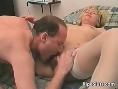 Attractive experienced tempting blonde bitch gets that bushy part4
