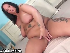 Alluring attractive mom gets nude squeezing part3