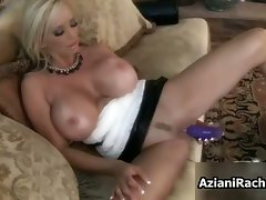 Buxom light-haired lass gets attractive toy part1