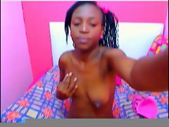 Flawless Filthy ebony Bombshell 01 strokes her nipples for me