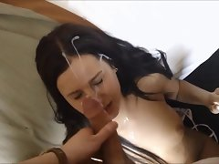 Amateur girlie cumfaced