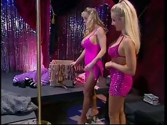 2 big melons dolls get worked up on seeing themselves in pantyhose