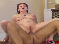 VODEU - Ginger-haired granny loves Butthole