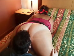 Cheating Slutty wife pleasing a white friend