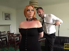 Fat butt Harley Morgan spanked and disciplined by dom Pascal